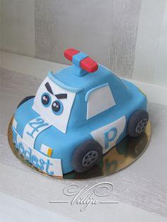 Police Car Cake Police Birthday Cakes, Police Car Cakes, 10 Birthday Cake, Cupcakes, Cupcake Cakes, Car Cakes For Boys, Fireman Cake, Robocar Poli, Basic Cake