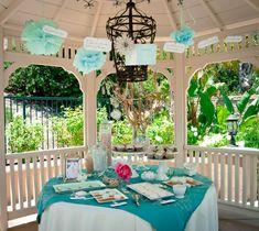 "Photo 1 of 13: Coastal / Bridal/Wedding Shower ""Elegant Beach Bridal Shower"" | Catch My Party"