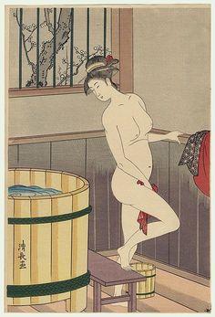 Erotic japanese woodblock lesbian