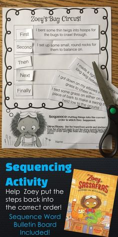 This sequencing activity and bulletin board set of sequencing words will be a hit in your classroom.  This resources was designed to enhance your study of the book, Zoey and Sassafras Dragons and Marshmallows.