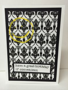Sherlock inspired Birthday Card by BreakingPatterns on Etsy #sherlock #bakerstreet