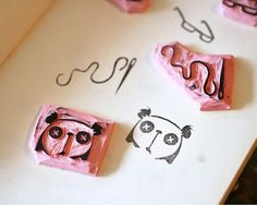 Rubber Stamp Carving Tutorial - stamp ideas