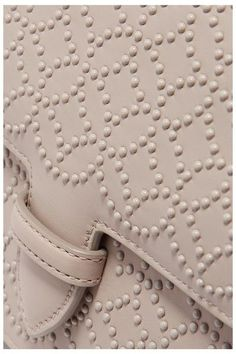Alaïa - Arabesque Mini Embellished Leather Shoulder Bag - Light gray - one size