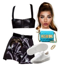 """Sem título #2047"" by hosana-317 ❤ liked on Polyvore featuring Puma and Moschino"