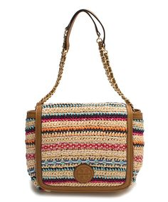 Another great find on #zulily! Tory Burch Natural & Pink Stripe Shoulder Bag by Tory Burch #zulilyfinds
