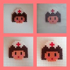 Enfermera en Hama Beads #nurse