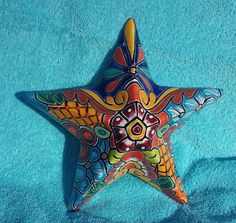 "La Estrella Mexican Star Talavera Hanging Wall Art 10"" Hand Painted Ceramic 3D | Collectibles, Cultures & Ethnicities, Latin American | eBay!"