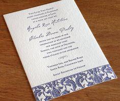 victorian letterpress wedding invitation by invitations by ajalon