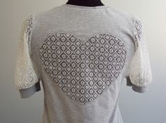 'So, Zo...': Refashion Friday Inspiration: Lace Heart Cut-out T-shirt