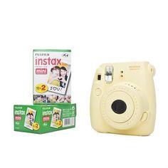 Fuji Instax Mini 8 mit Film 40 Bildern gelb Fujifilm Sofortbildkamera Instant | eBay