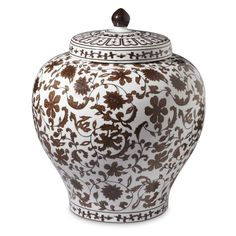 Chocolate Lidded Ginger Jar, 14
