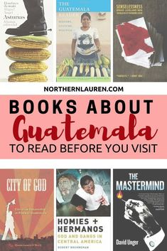 The best books to read about Guatemala before you visit. If you're planning a trip to Guatemala, then you should check out these must-read books about Guatemala before you visit. Best Travel Books, Best Books To Read, Read Books, Travel Tips, Literary Travel, Travel Hacks, Travel Destinations, Honduras, Books By Black Authors