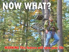 What to do if you fall from a treestand - by Bowsite.com. And how to adjust your setup so you fall in a safe direction and reduce the shock to your body!