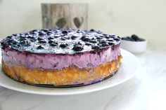 A blueberry cheesecake that is rich and creamy with a jelly blueberry topping. A low carb and gluten free crust is made with cream cheese too! Blueberry Galette, Blueberry Topping, Blueberry Cheesecake, Low Carb Sweets, Low Carb Desserts, Low Carb Recipes, Gluten Free Crust, Gluten Free Cheesecake, Bean Cakes