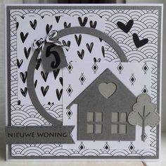 New Home Cards, Marianne Design, Card Making, Playing Cards, Scrap, New Homes, Kids Rugs, Blog, How To Make