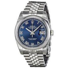 Rolex Datejust Blue Dial Stainless Steel Jubilee Bracelet Mens Watch 116200BLRJ Rolex. $6295.00