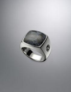 Exotic Stone Signet Ring, Pietersite | Men Rings | David Yurman Official Store
