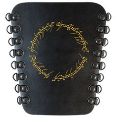 By the power of the One Ring, let your arm be steady and your aim be true! The Ring of Power Archers Arm Guard is a work inspired by the Lord of the Rings story, featuring the very same script that wraps around and within the One Ring.