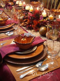 Thanksgiving Tablescape #ThanksGiving #Home #Decor ༺༺  ❤ ℭƘ ༻༻