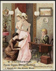 W. S. Underwood Pianos, Organs, Sewing machines, Wheeler & Wilson M'f'g Co. (front)