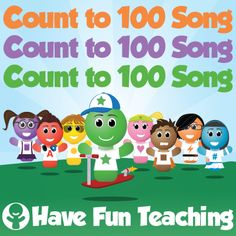 The Count to 100 Song is a fun way to teach and learn how to count to 100. Count from 1 to 100 with breaks and without breaks. Counting to 100 is fun!