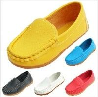 Wish   Hot Sell Boy's Girl's Casual Oxfords Baby Flats Boat Slip on Child Loafer Shoes