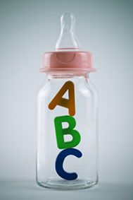 Fill this baby bottle with candy and make a guessing game out of it!