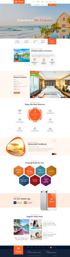 Thuyil is a fresh and unique PSD template designed for Hotel, Motel, Resort, Room Booking, Vacation stay etc. #website #webdesign #psd #hotel