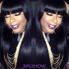 Gorge bangs hair!  pts001 #Bangs Lace Wigs: http://www.rpgshow.com/stock-full-lace-human-hair-wig-straight-pts001s-p-1001.html  Coupon Code: blackfriday   Discount: $70 OFF #lacewigs