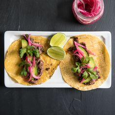 Food & Wine's Carne Asada Tacos recipe is the ultimate taco night dish.
