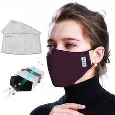 Mirror Cotton Mouth Mask Anti-dust Mask Activated Carbon Filter Windproof Mouth-muffle Bacteria Proof Flu Face Masks New - 3 Dimensional Marketing PTE LTD Unisex, Different Nose Shapes, Flu Mask, The Face, Full Face, Activated Carbon Filter, Diy Face Mask, Face Masks, Nose Mask