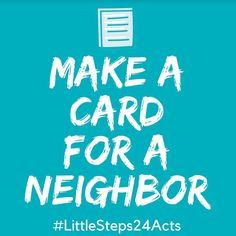 Day 4 - random acts of kindness!  A fun one for the kids...make a card for a neighbor.  #mylittlesteps #littlesteps24acts . . . #kindness #randomactsofkindness #giveback #holidays #momlife