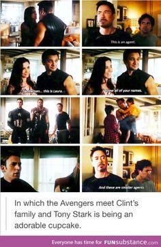 ~Clint Barton~ ~Laura Barton~ ~Tony Stark~ ~Bruce Banner~ ~Steve Rogers~ ~Thor~ I love Tony Marvel Jokes, Marvel Funny, Marvel Dc Comics, Marvel Heroes, Marvel Universe, The Maxx, Fangirl, Dc Memes, Age Of Ultron