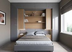 Bedroom Storage For Small Rooms - Unity Fashion Small Bedroom Storage, Small Master Bedroom, Small Bedroom Designs, Small Room Design, Bedroom Bed Design, Bedroom Furniture Design, Home Bedroom, Modern Bedroom, Bedroom Decor