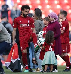 MO SALAH was the top goal scorer in the Premier League this season, is one of Liverpool's key players, and is currently playing for Egypt in the World Cup. But who is the woman behind the man, his wife, Magi Salah? Do they have a child together? Liverpool Champions League, Liverpool Players, Liverpool Football Club, M Salah, Muhammed Salah, Mohamed Salah Liverpool, Manchester United Team, Liverpool Fc Wallpaper, Kaftan
