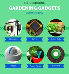 Check out these 6 interesting ‪#‎garden‬ gadgets spotted at CES 2015! Click to see infographic!