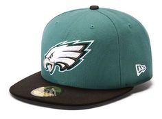 #Eagles New Era 59FIFTY Green/Black OnField Fitted Hat. $34.99