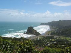 auckland, new zealand. I actually climbed to the top of this little mountain on the coast...so amazing!