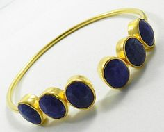Amazing Natural Lapis Lazuli gemstone gold plated brass fashion bangle jewellery #magicalcollection #lapis #lazuli #gemstone #Bangle