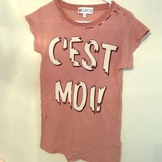 WILDFOX distressed graphic tee Vintage WILDFOX graphic tee. Offers accepted! Wildfox Tops Tees - Short Sleeve