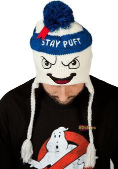 Ghostbusters Stay Puft Marshmallow Man Peruvian Beanie