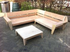 Outdoor BIG Lounge garden sofa & Plans for DIY. Outdoor Sofa Sets, Diy Outdoor Furniture, Deck Furniture, Outdoor Seating, Furniture Plans, Outdoor Living, Outdoor Decor, Garden Sofa, Lounge Sofa