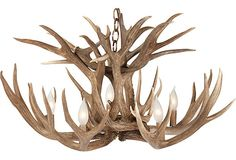 Antler Chandelier --- julia and I will make this together, but we always could use more antlers! :) Deer Antler Lamps, Antler Lights, Elk Antlers, Antler Art, Ranch Style, Kings Lane, Wyoming, Wire Chandelier, Chandeliers