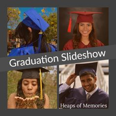 Graduation High School College Slideshow Professional Custom Video Montage Photo DVD Movie by HeapsofMemories on Etsy High School Graduation, Graduate School, Graduation Ideas, Video Editing, Photo Editing, Missionary Homecoming, Photo Video Montage, Funeral Memorial, Photo Look