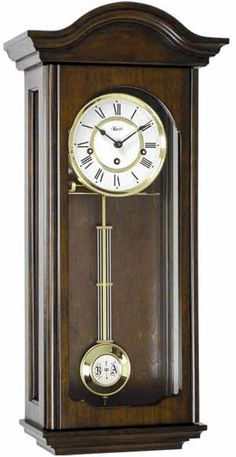 Hermle Brooke Walnut Finish Regulator Wall Clock from Theisen Clock & Novelty. Mantel Clocks, Old Clocks, Antique Clocks, Giant Wall Clock, How To Make Wall Clock, Chiming Wall Clocks, Diy Clock, Hanging Clock, Clock Shop