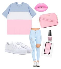 """""""Untitled #207"""" by aries25 ❤ liked on Polyvore featuring adidas, MICHAEL Michael Kors, OPI and Wildflower"""