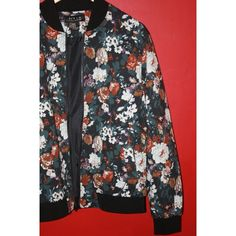 Flower Bomber Jacket flower print | men's medium, fits like women's L | very comfortable and head turning. Jackets & Coats