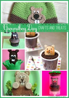 Groundhog Day Crafts and Treats | Create Craft Love
