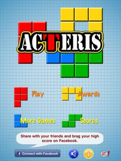 ACTERIS HD: Action Puzzle Match for iPad ($1.99) Move the tile frame to match the pattern shown at the bottom of the screen before the time runs out!   Try your best to match items quickly to get higher points. And get combo multipliers when you match identical items quickly! Recommended for Eye Movement Control at the Beginner Level by OPTOMETRIC CENTER FOR FAMILY VISION CARE AND VISION THERAPY