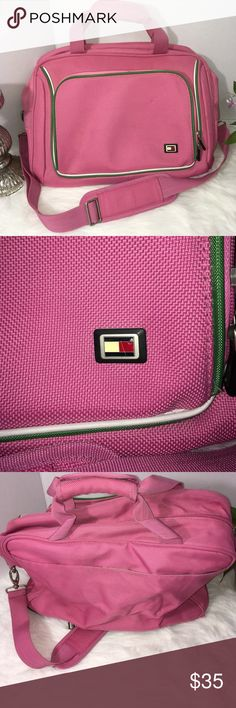 """Vintage Tommy Hilfiger Travel Carry On Bag Vintage Tommy Hilfiger Travel Carry On Bag  Measurements  Length 17"""" Height 11.5  Minor signs of use and small spot on top of bag. Please see all photos Tommy Hilfiger Bags Travel Bags"""